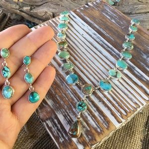 Paul Livingston Turquoise & Silver Necklace Set
